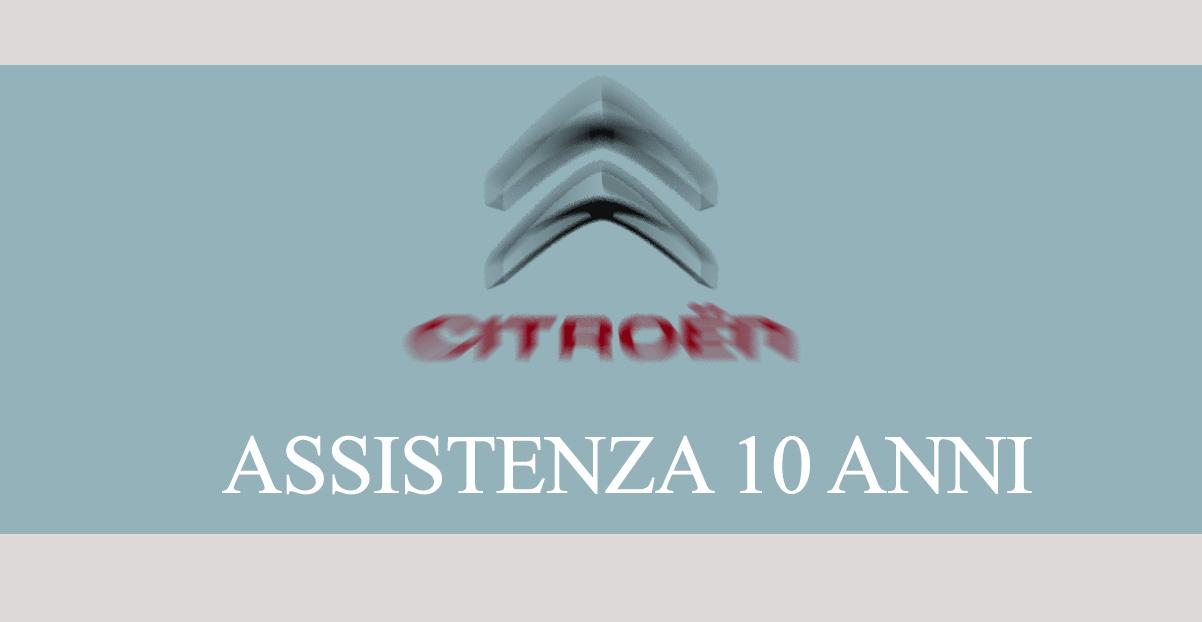 assistenza 10 anni Citroen